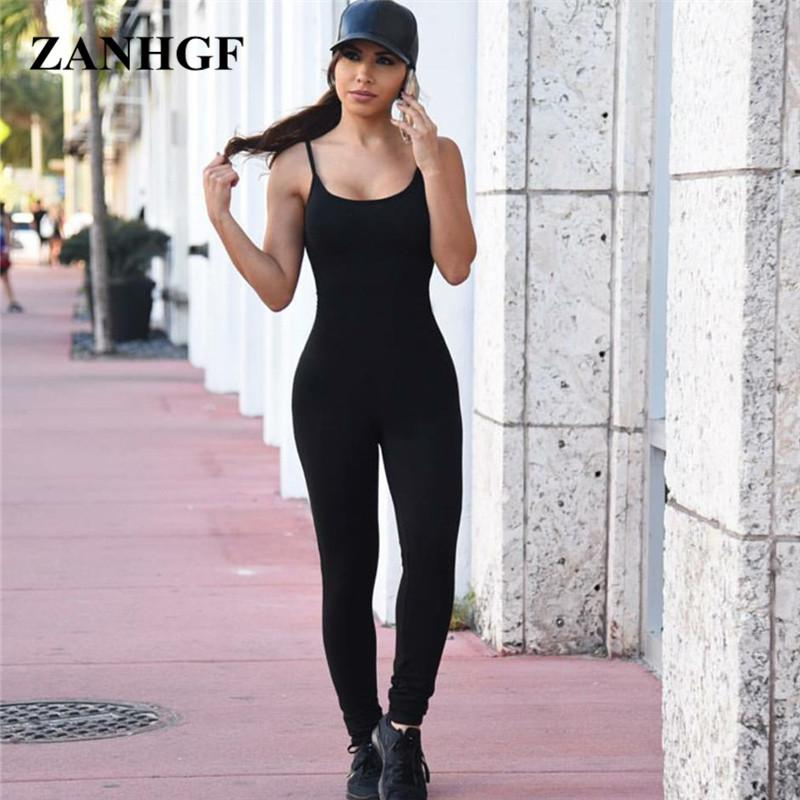 2a2be51001a9 2019 Wholesale Casual Sexy Jumpsuits Women Black White Skinny Jumpsuits  Spaghetti Strap Backless Women Jumpsuits 2017 Hot Sale Jump Suits P101 From  Sweet59
