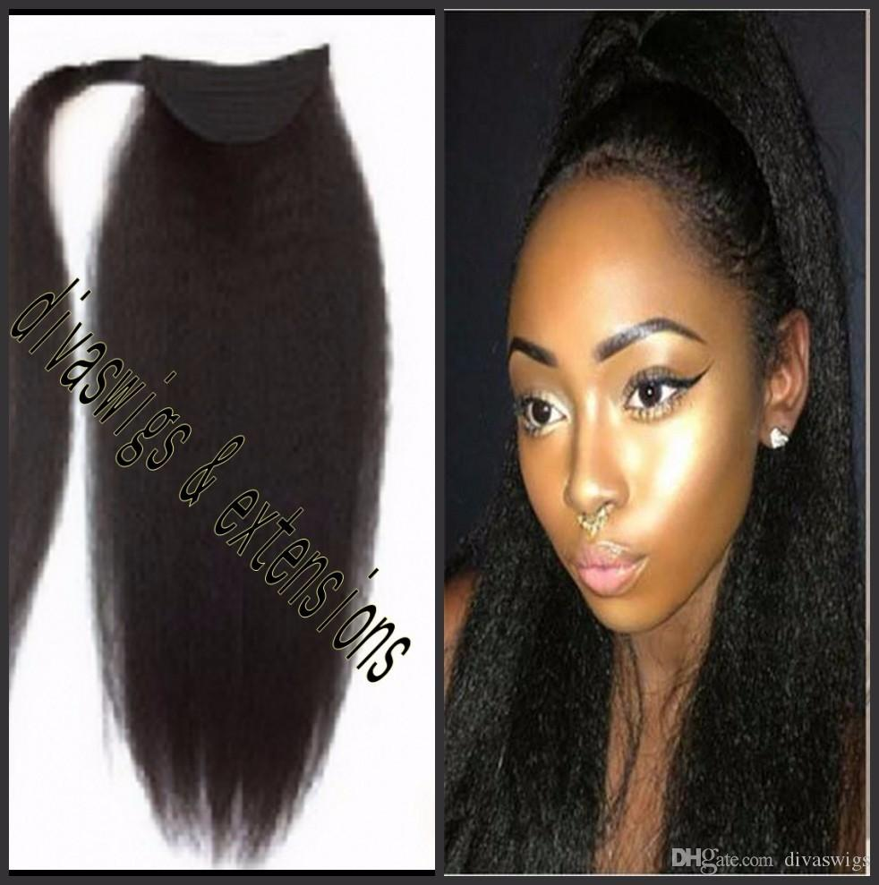 Best quality virgin brazilian hair kinky straight ponytail human 10 pmusecretfo Images