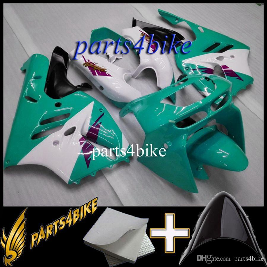 Aftermarket Plastic Fairing for Kawasaki ZX9R 94 97 ZX-9R 1994-1997 94 95 96 97 green white Motorcycle Body Kit