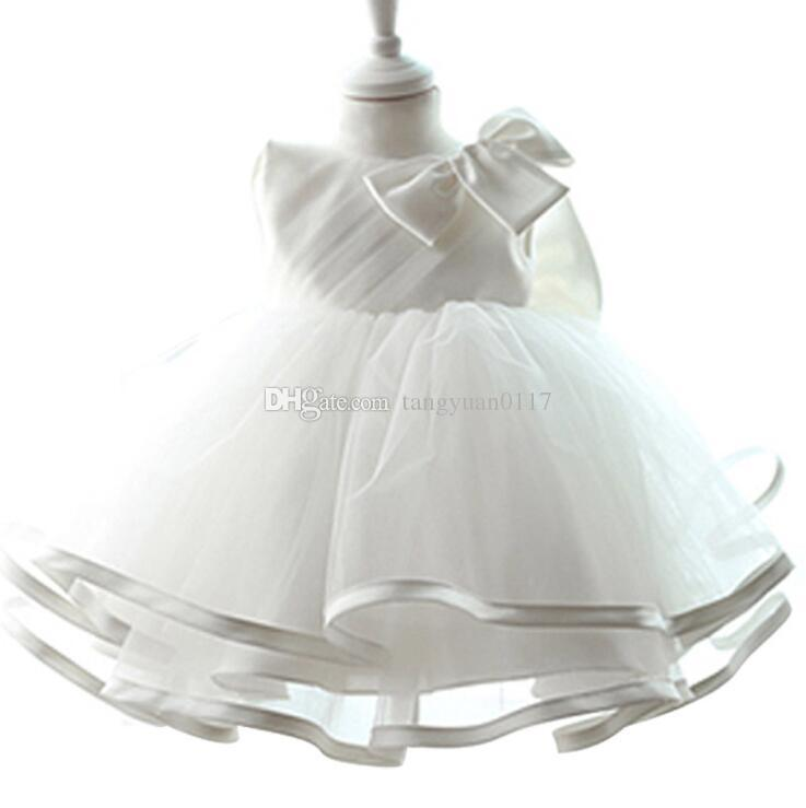 Lace Princess Dress Newborn Baptism Dresses For Baby Girl White ...