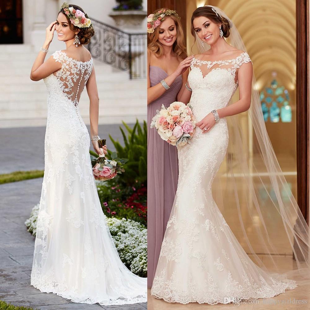 Vintage Lace Wedding Dress 2017 New Mermaid Boho Bride