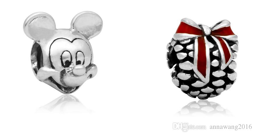 Wholesale Fit Sterling Silver Bracelet Charms Earth European Charm Beads Fit Snake Chain Bracelet DIY Original Jewelry Xmas