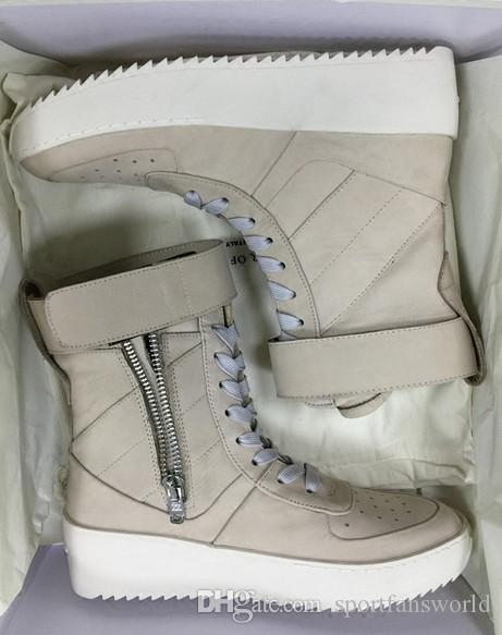 buy online 02575 eb4c1 Without Box Size 34-46 Fear of God Military Sneaker Dark Grey Jerry Lorenzo  leather Numbuck Fog Made In Italy military boots Winter boots