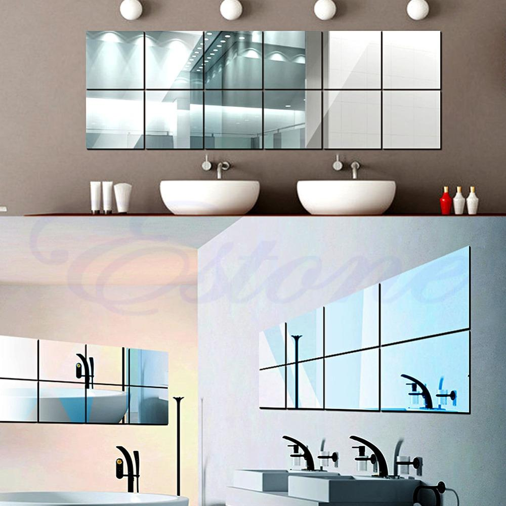 Wholesale Self Adhesive Decorative Mirrors Tiles Mirror Wall