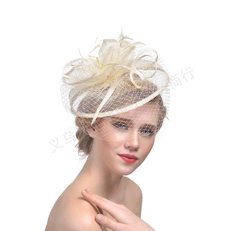 ful 2019 europeo Fascinator Cappello Feather Handamde Sinamany Melbourne Cup, Ascot Races, Kentucky Derby Cappelli Accessori da sposa