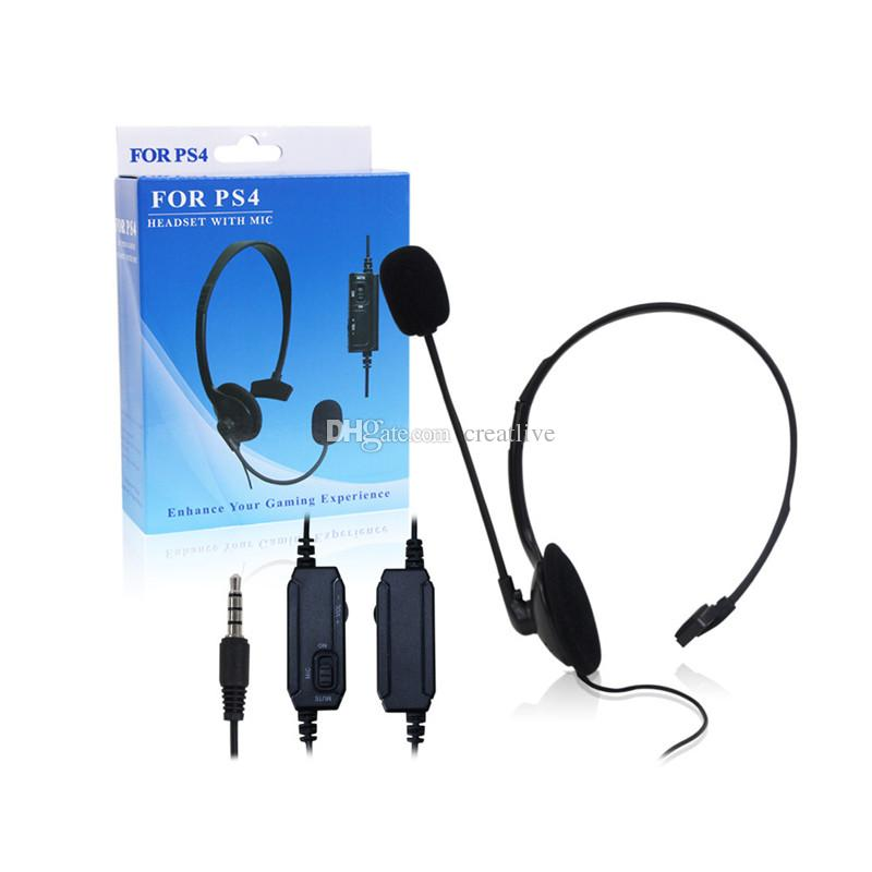 High quality hot sale Single-side Broadcaster Wired Gaming Headset Earphone Headphone for Sony PlayStation 4 PS4 with micphone