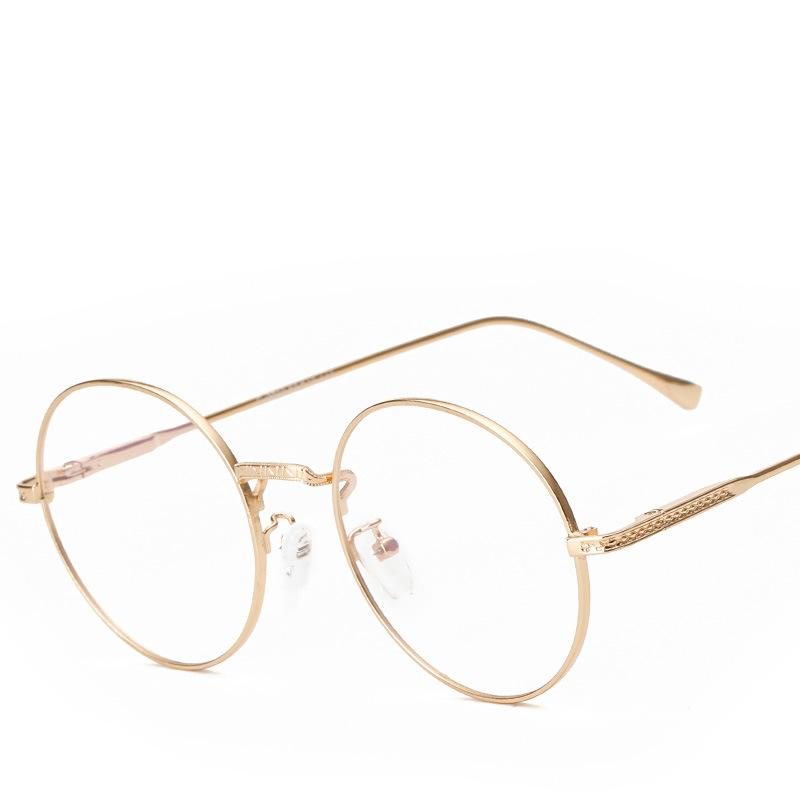 2018 Wholesale Round Frame Glasses Men Women Clear Lens Designer ...
