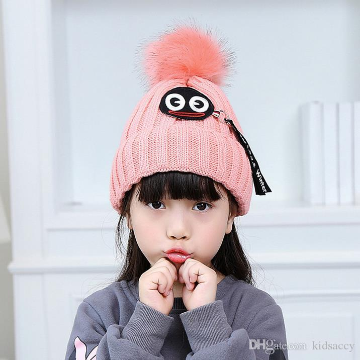 0e0800e7 New Autumn Winter Baby Kids Cartoon Beanies Hats Skull Caps Warm ...