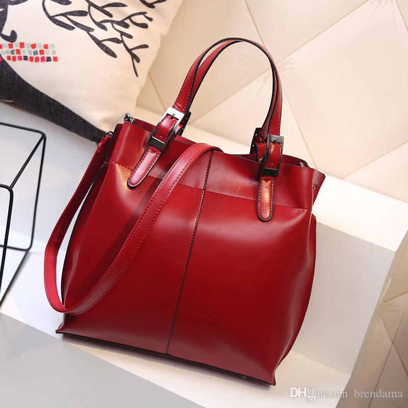 New Hot Fashion Nags For Women Handbag Oil Leather Designer ...