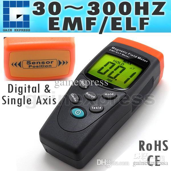 T91 Portable Digital EMF / ELF Single Axis Gauss Meter Gaussmeter Detector  Electromagnetic Field mG 30-300Hz Made in Taiwan