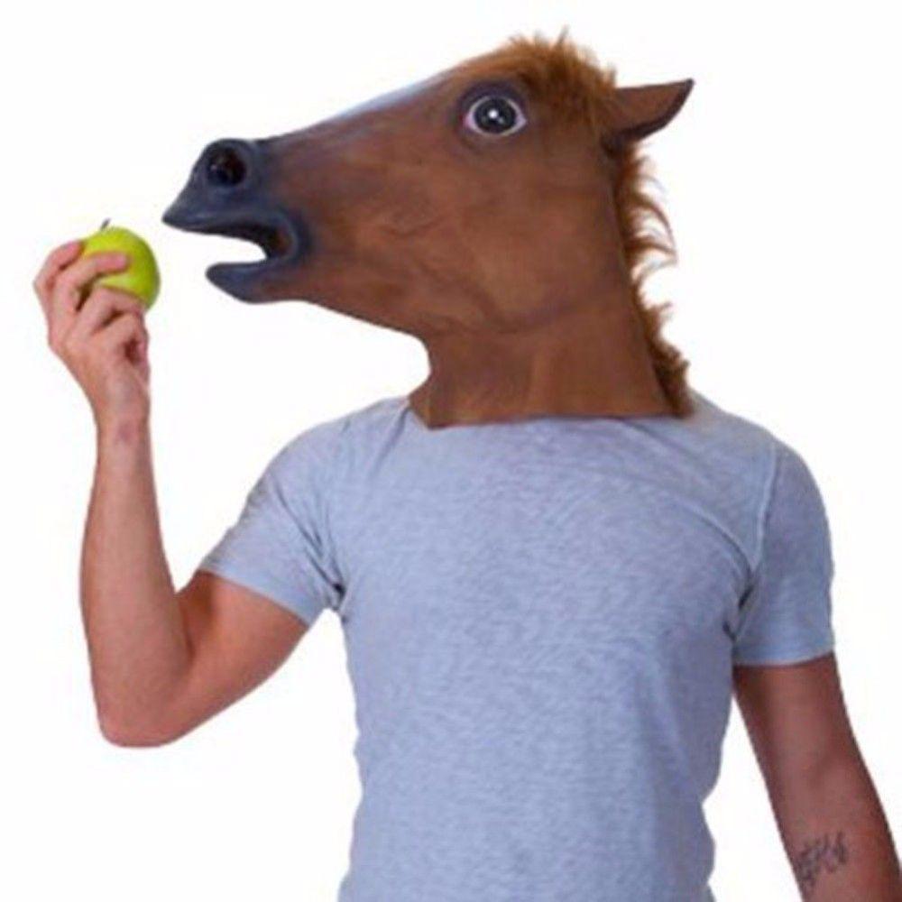 Tête de Latex masque Halloween Costume effrayant licorne cheval théâtre théâtre blague prop masque fou parti vente chaude
