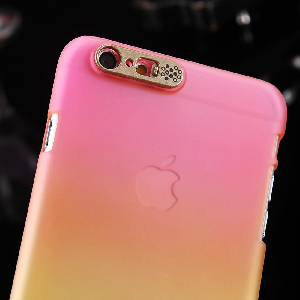 For Iphone 6 6s Plus Smart Glitter Shiny Case Led Flash Light Gradient Candy Hard Pc Cover Apple High Quality Red Br China