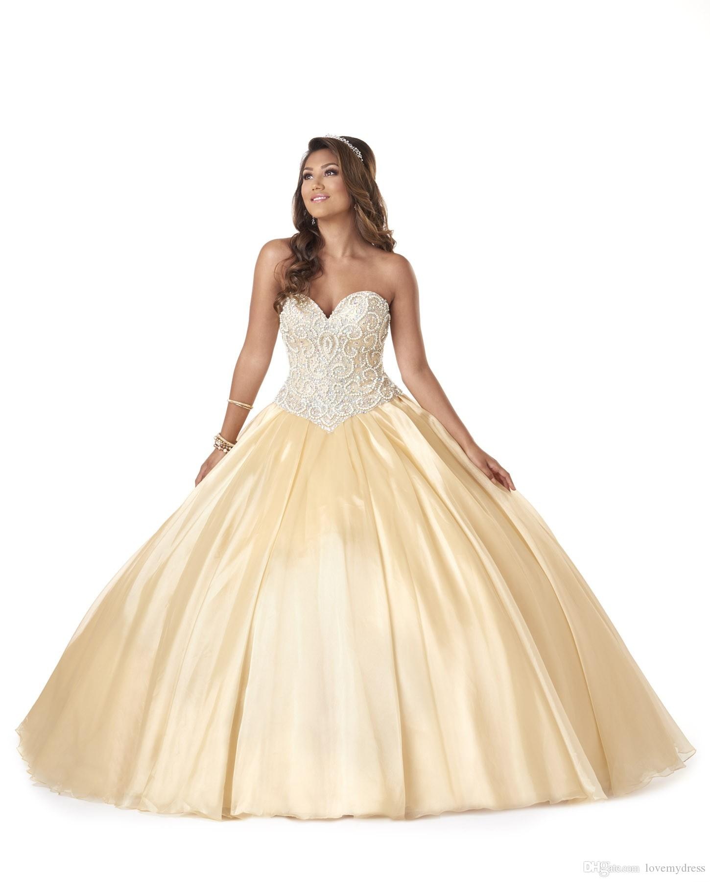 Quinceanera Dress Inexpensive Pearl Crystals Sparked Dresses With Jacket Elegant Lace Up Back Cheap Price Ball Gown Prom Pageant Dresses