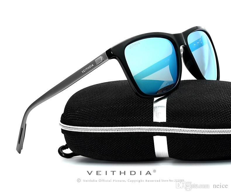 cd3fc0641bf 2017 New VEITHDIA Retro Aluminum TR90 Sunglasses Polarized Lens Men s Male  Eyewear Accessories Driving Sun Glasses Sports Goggle TR90 Sunglasses Male  ...
