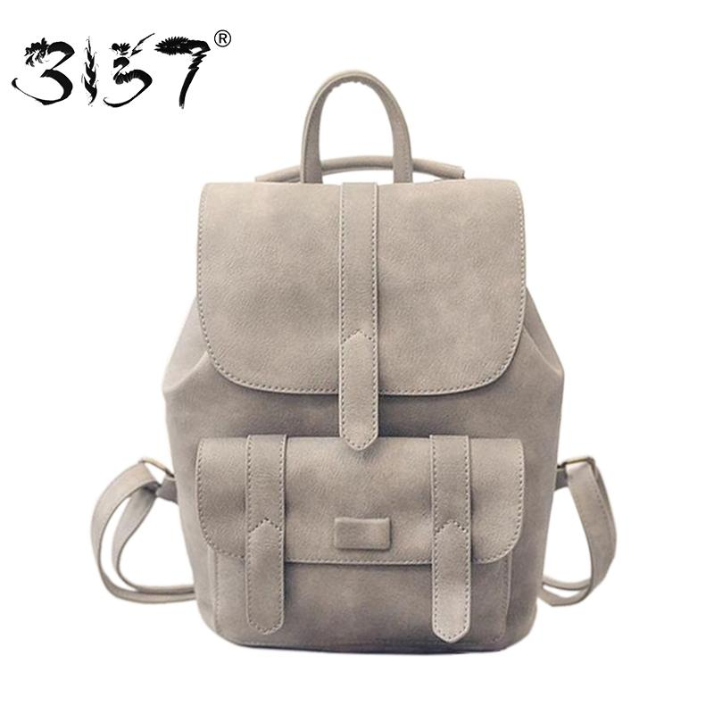 61dc71ddfc3c Wholesale- 3157 fashion women leather backpack for teengaers girls famous  designer cute school bags ladies high quality female backpacks
