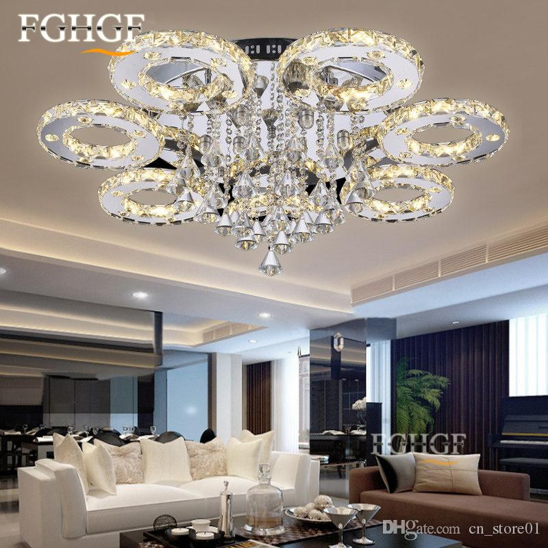 2018 Modern Led Crystal Ceiling Light Fixture Luminarias Lamp ...