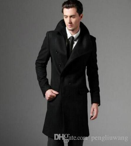 Black trench coat mens short