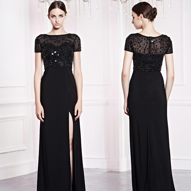 Vestido de noche negro elegante