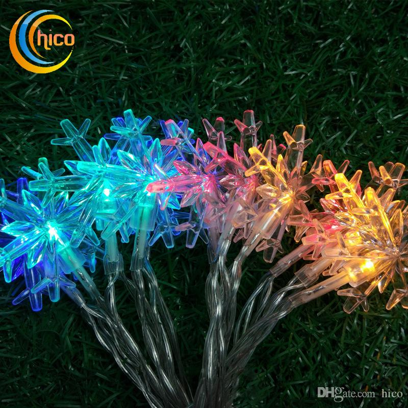 Snowflake christmas lights outdoor led christmas lights clamp led snowflake christmas lights outdoor led christmas lights clamp led strips lighting 2m 20led battery operated xmas lights globe string lights patio string aloadofball Images
