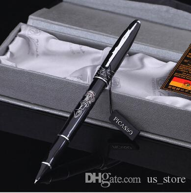 black real Picasso 606 Fountain Pen business gift pen free shipping school  and office Writing Supplies send teacher student