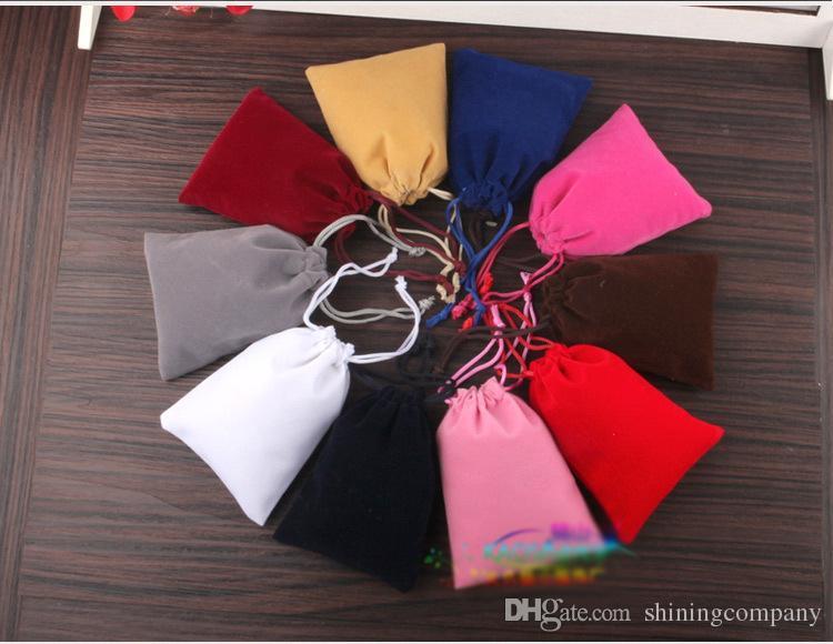 DHL Frvet Bagee Shipping Velvet Fidget Spinner Drawstrings Bolsas de embalaje 9 * 12 cm Bolsas de joyería Collar Pulsera Pendiente Bolsas de regalo