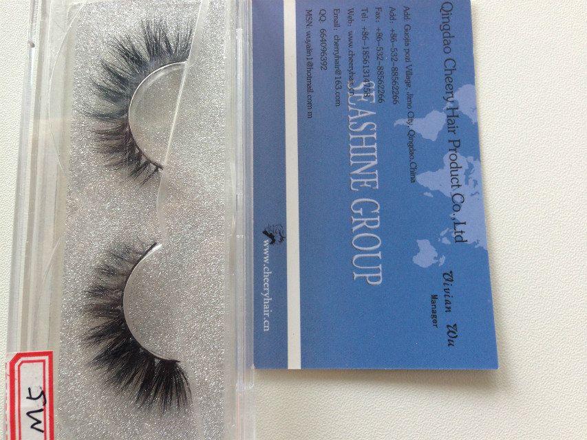 3D Natural Bushy Cross False Eyelashes Mink Hair Handmade Eye Lashes Charming Eyelash Extensions Factory wholesale