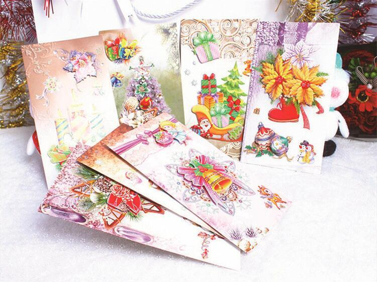 Cute Christmas New Year Greeting Cards Christmas Greeting Postcards