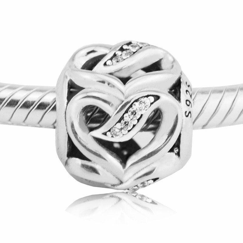 866c3e6e4 Ribbon of love charms S925 sterling silver 2017 fits pandora Jewelry  bracelets free shipping H7