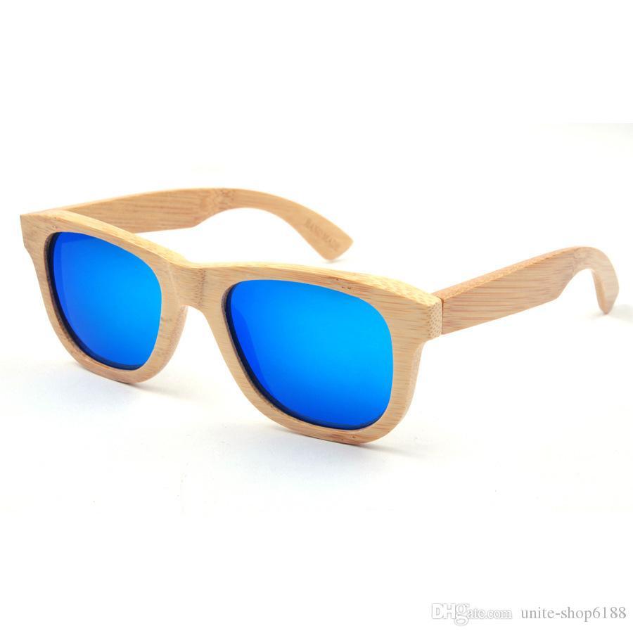 Горячая распродажа бамбука солнцезащитные очки бамбук кадр поляризованных солнцезащитных очков мужчин деревянные очки цвет объектива солнцезащитные очки женщин деревянные очки унисекс