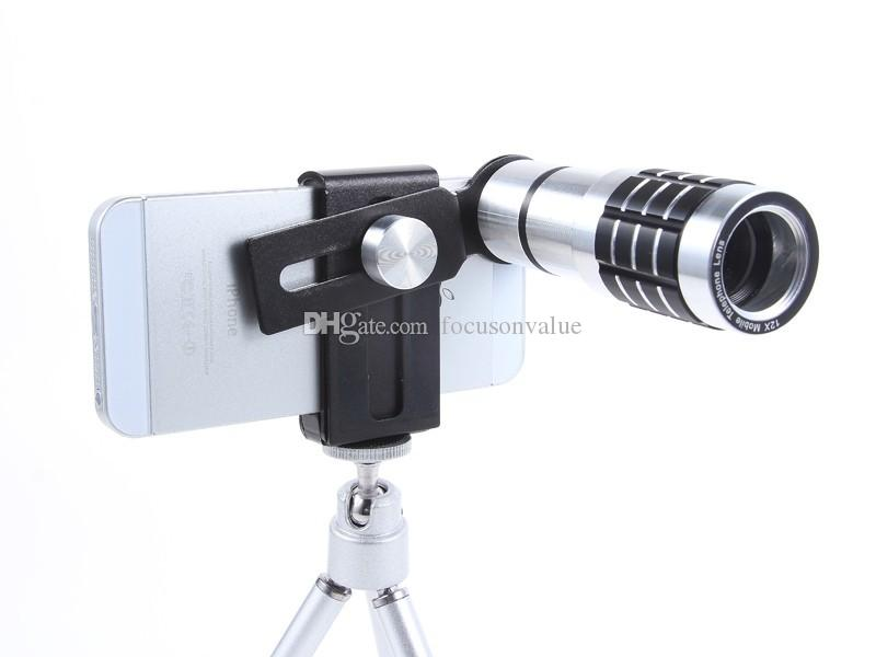 12X Optical Zoom Lens Kits Camera Telescope Lens Camera Lens 12X Zoom+Mount Tripod For iPhone For iphone Samsung Android smartphone