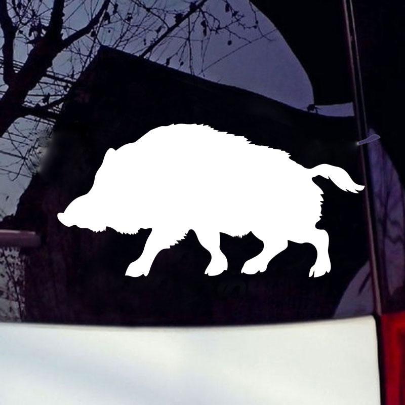 Grosshandel Coole Grafiken Ein Wildschwein Silhouette Auto Fenster