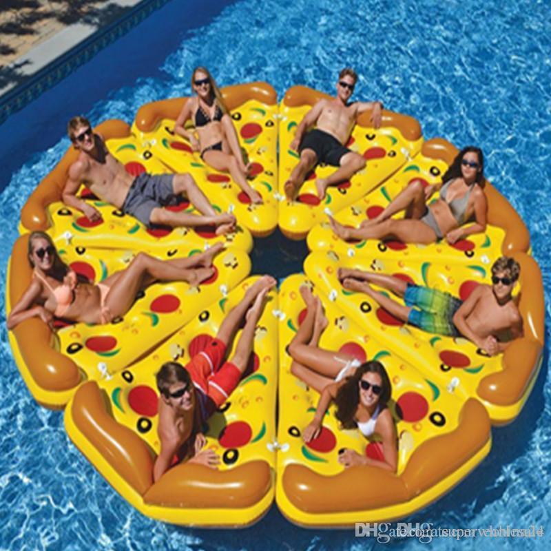 Giant Inflatable Flamingo Pizza Pool Floats Summer