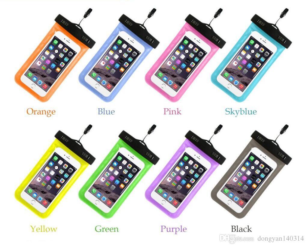Saco à prova d 'água Universal Durable Underwater Dry Bag com Armband Strap para Apple iPhone 7,6S, 6S Plus, 5S, borda Samsung S7 S6