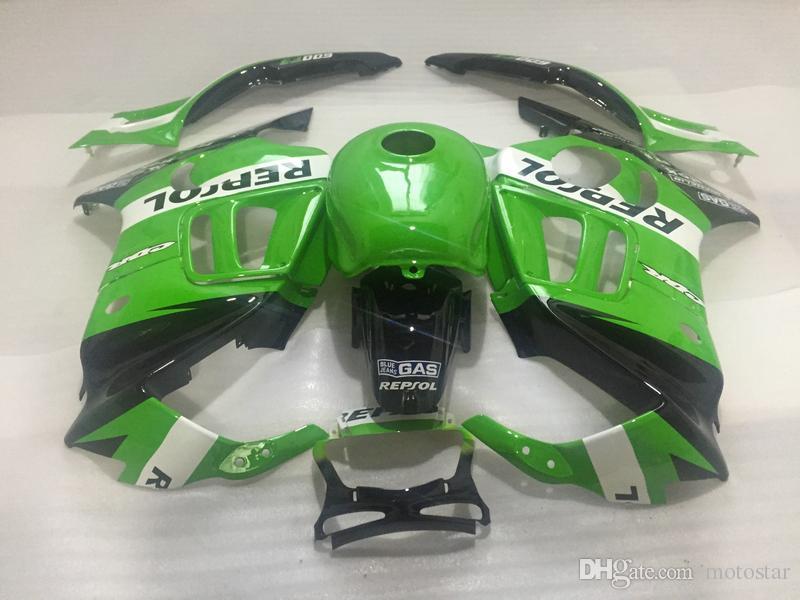 Free customize motorcycle fairing kit for Honda CBR 600 F3 95 96 green fairings set CBR600 F3 1995 1996 OT22