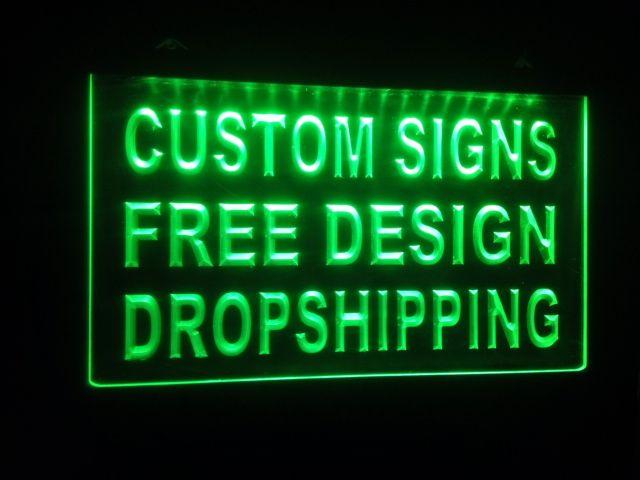 2019 Design Your Own Custom Light Sign Hang Sign Home Decor Shop
