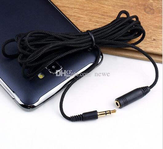 Elektronik 3 M 10ft 3.5mm Kulaklık Uzatma Kablosu Kadın Erkek F / M Kulaklık Stereo Ses Uzatma Kablosu kablosu Adaptörü için Telefon PC MP3