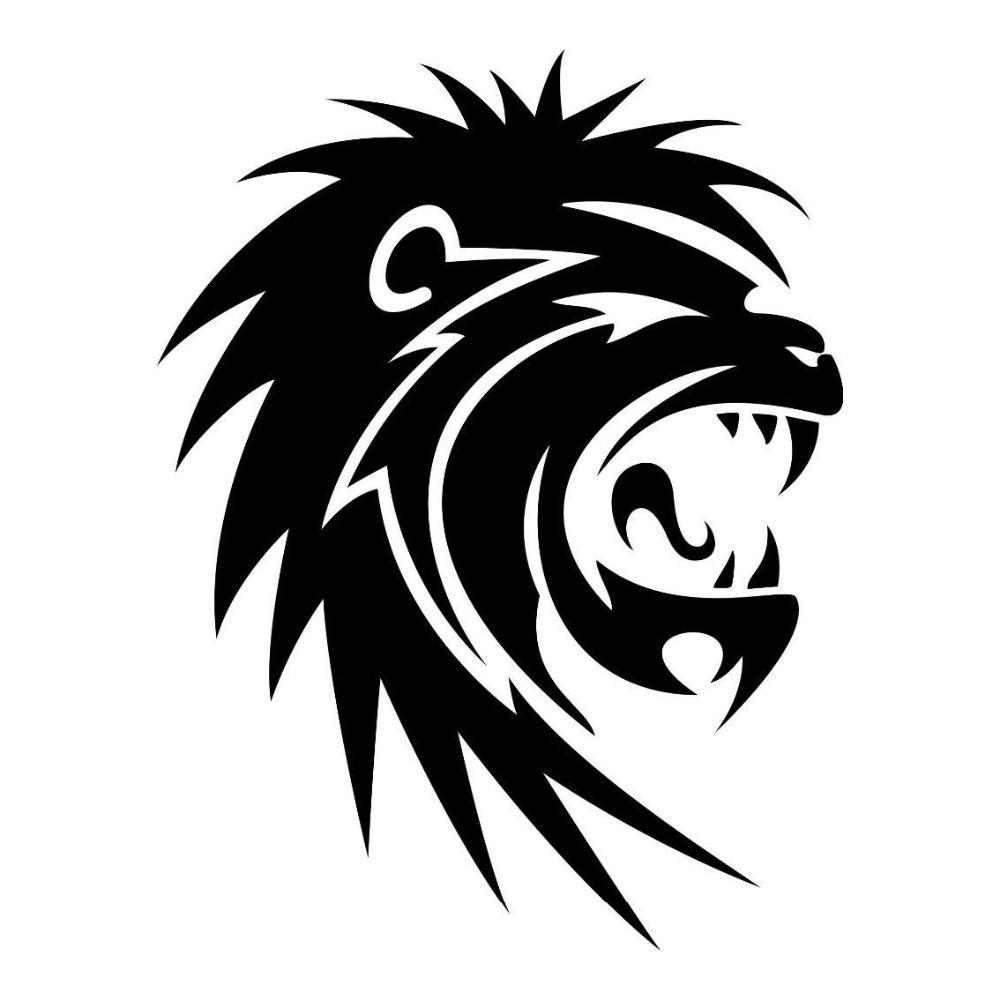 2019 tribal roaring lion head fashion vinyl car stickers creative car styling decals from xymy767 1 31 dhgate com