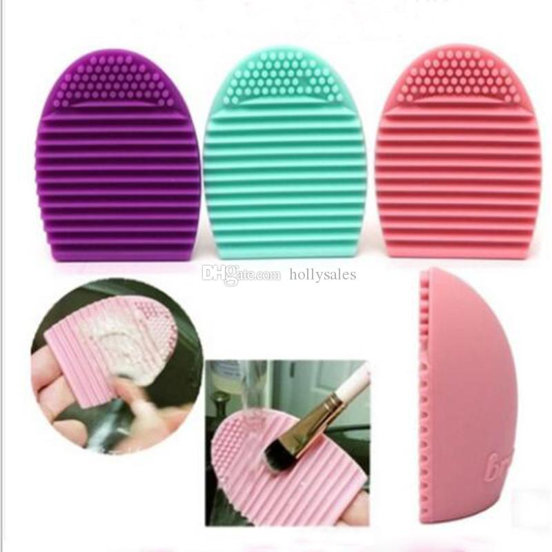 Cheap price New Egg Cleaning Glove MakeUp Washing Brush Scrubber Board cleaner Cosmetic Brush Cosmetic Brush Clean tools
