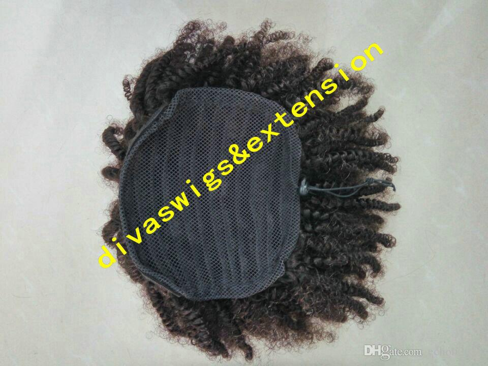 160g Natural hair puff, afro kinky curly drawstring human hair ponytails clip in virgin brazilian hair ponytail extension 14inch