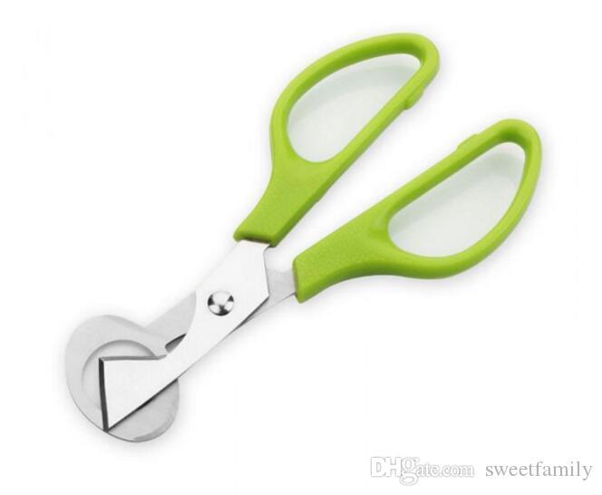 Перепелиные ножницы яйцо резак зеленая рука простые яйца открывалка Stiring ЭКО дружественных металлические кухонные гаджеты яйцо инструменты