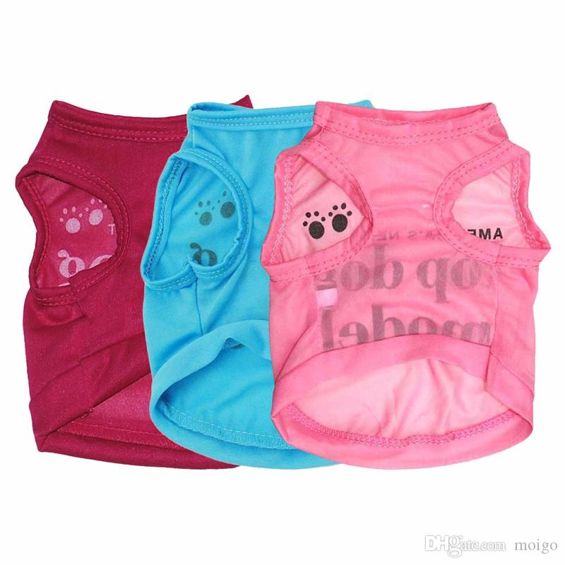 """New Summer Fashion Lovely """"America's Next Top Dog Model """"Dog Shirt Pet Vest Clothes for Pets Dog Clothes"""