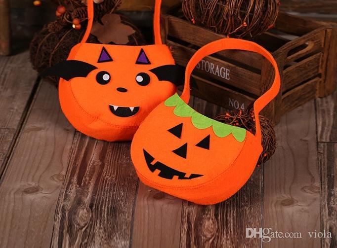 Il la cosa migliore PIÙ NUOVI sacchetti di zucca della caramella del sacchetto di zucca dei sacchetti di Halloween Sacchetto portatile Lanterna portatile della zucca Halloween Pasqua