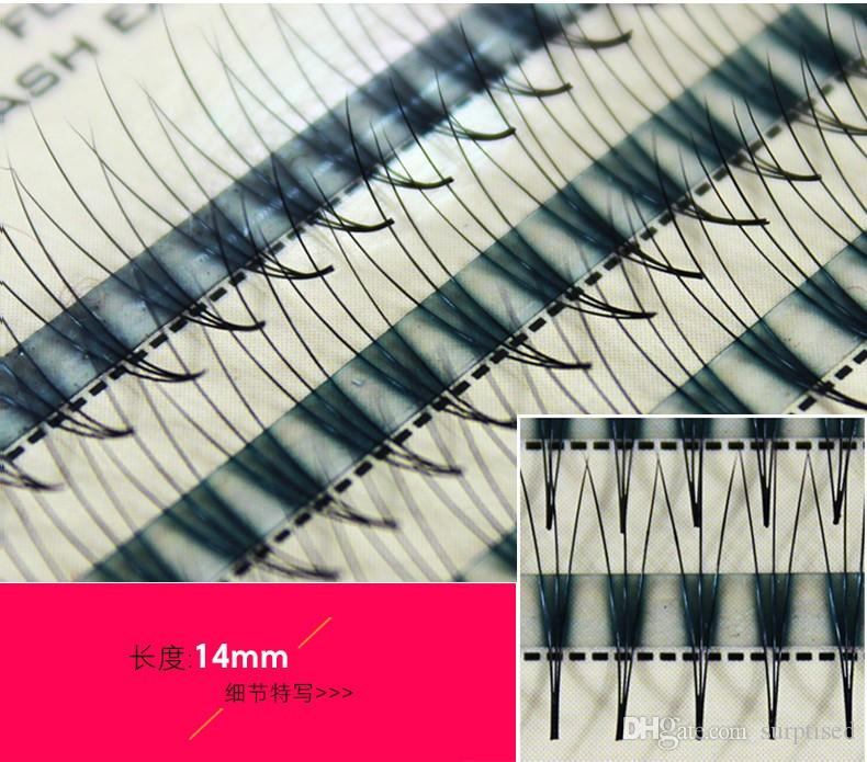 Volume 3D False Eyelashes 1-1.5cm 0.1mm Thickness Hair Mink Strip Individual False Eyelashes Extensions with Party makeup 8-14mm