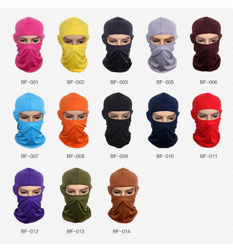 Multicolor moto masque Balaclava Cap écharpe bandana moto masque cyclisme Chapeaux d'équitation équipement CS Casque