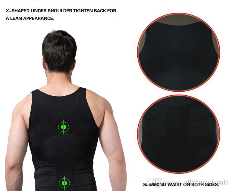 Mens emagrecimento corpo shaper cerveja Bellly Buster Underwear Colete Controle Firme Shapewear / lote de alta qualidade