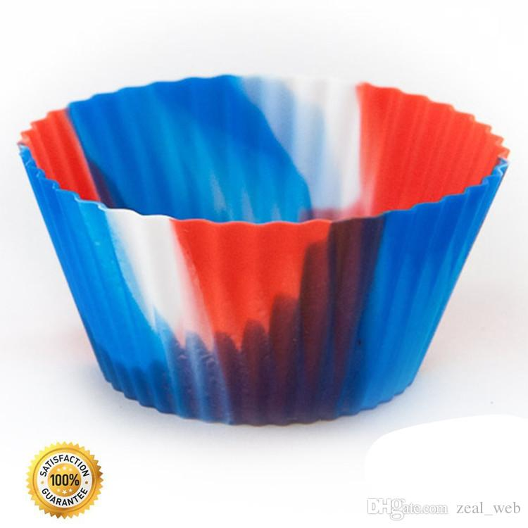 CAMO Silicone Cupcake Liners cake Baking molds round Reusable & Nonstick Muffin cups 7cm food grade 7