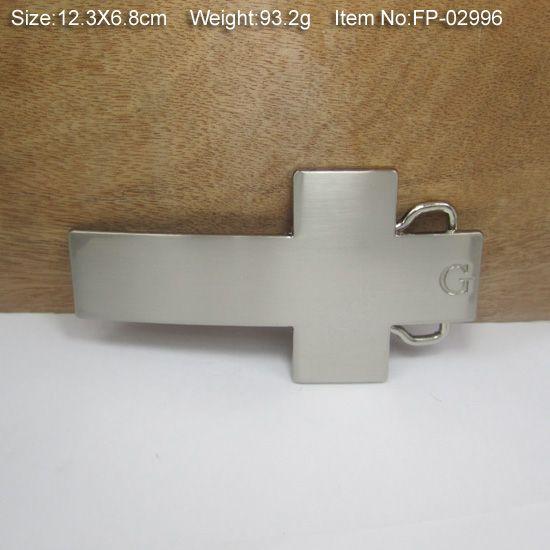 BuckleHome Mode-Kreuzgürtelschnalle mit Silberfinish FP-02996 mit durchgehendem Lager versandkostenfrei