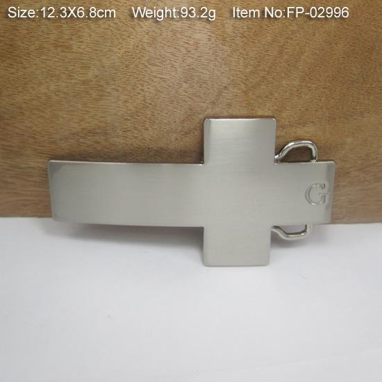 Hebilla cruzada de moda con hebilla de cinturón con acabado plateado FP-02996 con stock continuo y envío gratis