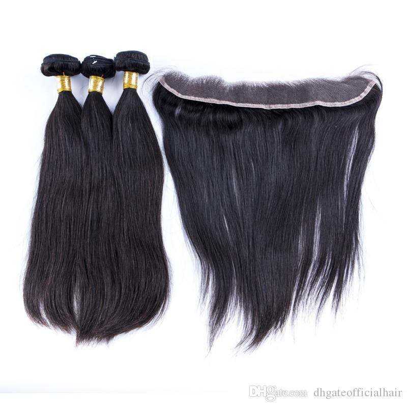 cheap straight human hair bundles weft natural color straight hair weave no shedding,tangling free with the wholesale price