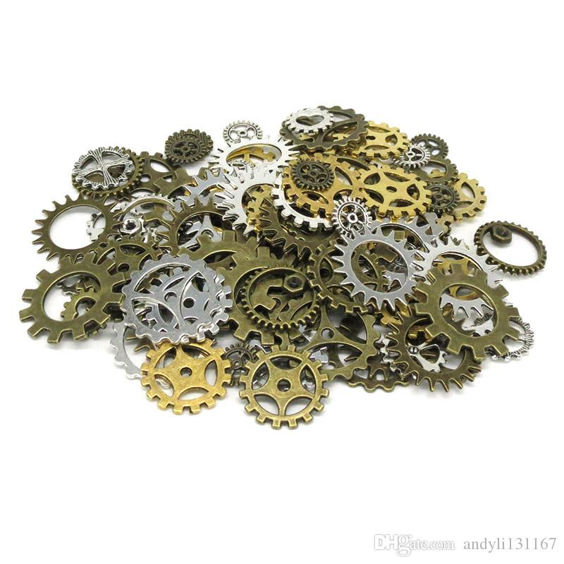 1000 stücke Steampunk Gänge Charms Gold Silber Vintage Bronze Gemischt Retro Anhänger Für DIY Schmuck Halskette Armband